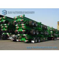 Wholesale Skeleton 30 Ton Two Axle Flatbed Semi Trailer 40 Foot Flatbed Trailer from china suppliers