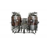 China Red Copper Brewpub Equipment 500L Automatic Controlling With Electricity Heating on sale