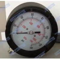 Wholesale 4.5 Inch Solid Front Pressure Gauge With Stainless Steel Internals / Connector from china suppliers