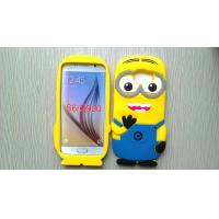 Wholesale Yellow Minion Samsung Galaxy S6 cover for G9200 , Engranved silicone protective case from china suppliers