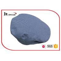 Buy cheap Seersucker mens flat hat with chambray sweatband and herringbone twill lining from wholesalers