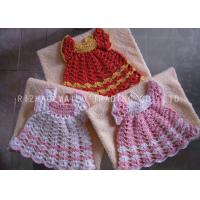 Wholesale Fan Weaven Pattern Crochet Christmas Ornaments , Hollow Out White Crochet Dress from china suppliers