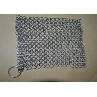 Wholesale SGS Stainless Steel Chainmail Scrubber , 30 Ringer Cast Iron Cleaner For Kichen Pan Cleaning from china suppliers