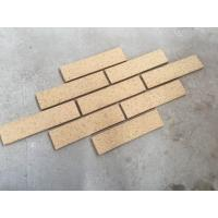 Quality M36413-5 Building Wall Cladding Material Thin Smooth Face Brick With Yellow Color for sale