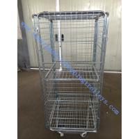 Wholesale 5'' Caster Steel Wire Shopping Trolleys Roll Container Transport And Warehouse from china suppliers