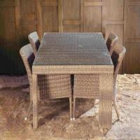 Wholesale Outdoor dining set, garden patio furniture, aluminum frame, rattan woven, UV-resistant from china suppliers