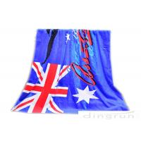 """Wholesale 30""""*60"""" Velour Custom Printed Beach Towels With Australian Flag from china suppliers"""