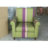 Wholesale Arm Striped Fabric Upholstered Modern Accent ChairFor Living Room from china suppliers