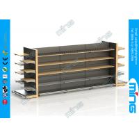 Buy cheap Wood And Metal Supermarket Display Shelves Light Duty With Wood Shelf from wholesalers
