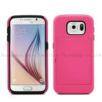Wholesale Mobile phone card holders,for Samsung S6,PC+Silicone material,colors,anti-shock,various models from china suppliers