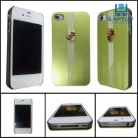 Wholesale Light green 100% brand new Iphone4 / 4S protect case silica gel case with Porsche logo from china suppliers