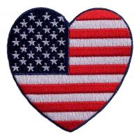 Wholesale Heart Shaped American Flag Embroidered Biker Patch from china suppliers