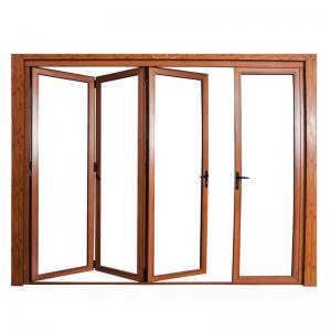 Buy cheap Wooden Aluminium Folding Door from wholesalers