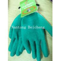 Wholesale Green Foam Latex Coated Gloves 13 Gauge with White Polyester Dip Palm from china suppliers