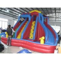 Wholesale Outdoor Kids Inflatable Water Park With Slide / Inflatable Water Slide PVC Tarpaulin from china suppliers