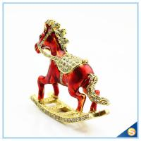 Wholesale Enamel Metal Trojan Shape Trinket Box Animal Series Rhinestone Jewelry Box SCJ730 from china suppliers