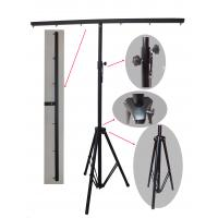 Wholesale 3m Height Black Truss Light Stand , Steel Material Dj Lighting Stands For Hanging from china suppliers