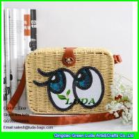 Wholesale LDTT-013 big eyes rattan handbag fashion paper straw cosmetic shoulder bags from china suppliers