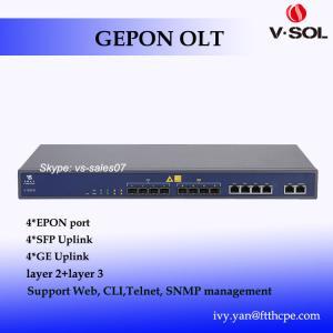 Quality 4 port GEPON OLT most popular 4 PON OLT layer 3 uplink 4GE 4SFP optic network for sale