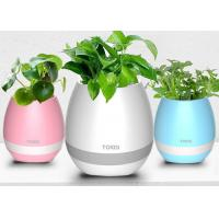 Wholesale ABS material Smart Touch Plant Piano Music LED Flower Pots Wireless Bluetooth from china suppliers