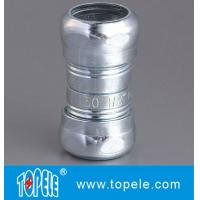 Zinc Plated Steel EMT Compression Coupling , EMT Coupling 1/2 Inch To 4 Inch