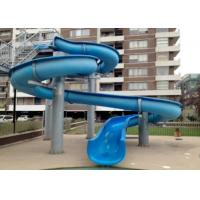 Wholesale Outdoor Fiber Glass Kid Water Slides , Aquasplash Open Water Slide 6m - 8m from china suppliers