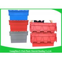Wholesale Red Plastic Attached Lid Containers / 43L Plastic Storage Bins from china suppliers