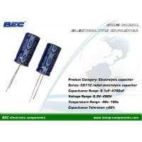 China CD112 450V Aluminum Radial Electrolytic Capacitors for Switching Power Supplies, Automotive Electronic Products on sale