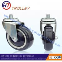 """Wholesale Universal Blue Casters Medical Bed Shopping Trolley Spare Parts 4"""" PU from china suppliers"""