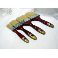 Wholesale Short Bristle Flat Paint Brush With Red & Golden Lacquered Wooden Handle from china suppliers
