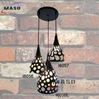 Wholesale New Hot Sale Indoor Cantine Hallway Vintage Decorative iron pendant lamp 3 lampholders from china suppliers