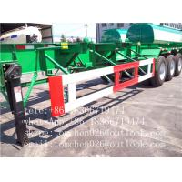 Wholesale 3 Axle 40ft Flatbed Container Trailer Chassis Mechanical suspension 30 - 70T loading capacity from china suppliers