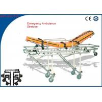 Wholesale Emergency patient stretcher Trolley , Automatic Loading First Aid Stretcher from china suppliers