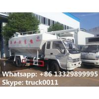 smallest forland LHD 8cbm fish feed delivery trucks for sale, best price forland brand animal bulk feed delivery truck