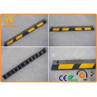 Wholesale Durable Parking Lots 6 Feet 1830mm Length Reflective Rubber Car Wheel Stopper 15kgs from china suppliers
