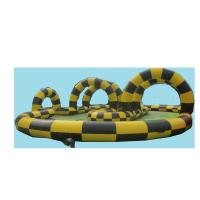 Buy cheap EN14960 Inflatable Go Kart Track Fireproof Fashionable With Double Stitching from wholesalers