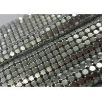 Wholesale Sparkling Decorative Aluminum Sequin Metallic Mesh Fabric Flat Shape Matted / Shining Surface from china suppliers