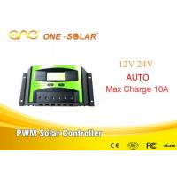 Wholesale 10A 12v/24v Pwm Solar Charger Intelligent Control Inverter Double Button from china suppliers