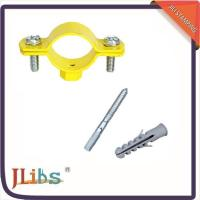 Wholesale Durable Yellow Painting Pipe Holder Bracket , Round Pipe Clamps 20mm Width from china suppliers