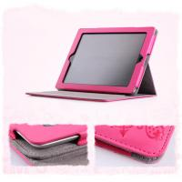 Wholesale Pink PU Cute PDA Leather Cases , Leather Carrying Bag For Ipad 4 from china suppliers