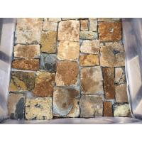 Wholesale Yellow Slate Stone Cladding Split Face Slate Wall Tiles Random Stone for Wall from china suppliers