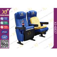 Wholesale Cup Holders Multiple Children Seat Options Available Movie Theater Chairs With Blue from china suppliers