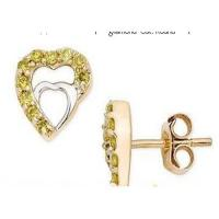 Wholesale Yellow diamond earrings from china suppliers