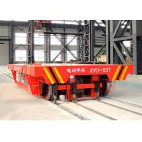 Wholesale 50T steel tank handling electric steer industrial trailers on steel rails from china suppliers