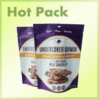 Wholesale Purple Color Food Packaging Pouches For Organic Quinoa / Currants / Chocolate from china suppliers