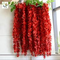 Wholesale UVG WIS006 Red artificial wisteria hanging wedding flower decoration imported from china from china suppliers