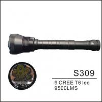 Wholesale 7500LM High Brightness LED Camp Lamp , T6 9 Cree LED Flashlight Torch from china suppliers