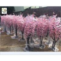 Wholesale UVG 2m high outdoor pink cherry blossom tree fake with peach flower branches for wedding planner CHR152 from china suppliers
