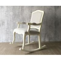 Wholesale European Style Wooden Leisure Chair , White High Back Velvet Chair from china suppliers