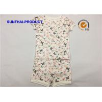 Buy cheap Butterfly Print Children's Clothing Sets Picot  Short Sleeve Top And Short For Baby Girl from wholesalers